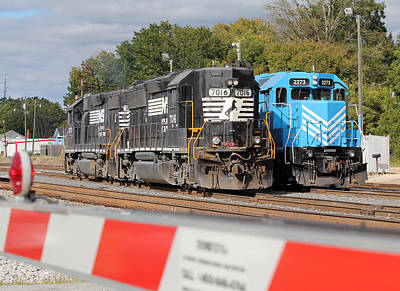 State Love Nancy Ingersoll Rights Managed Images - 2 Trains Meet in Chester Royalty-Free Image by Joseph C Hinson