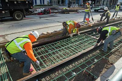 Tram Line Construction Art Print
