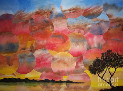 Painting - Tranquility With Tree by Jeni Bate