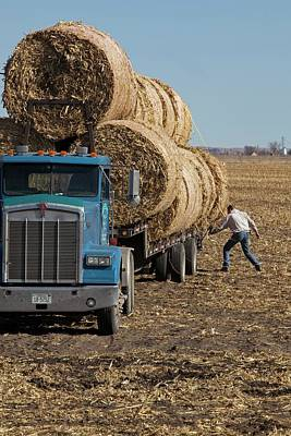 Bale Photograph - Transporting Bales Of Hay by Jim West