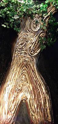 Mixed Media - Tree Goddess by Angela Stout