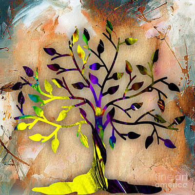 Tree Leaf Mixed Media - Tree Of Life Painting by Marvin Blaine