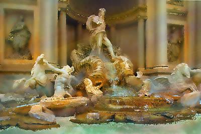 Trevi Fountain Art Print by Bill Quick