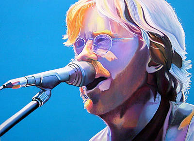 Phish Drawing - Trey Anastasio by Joshua Morton