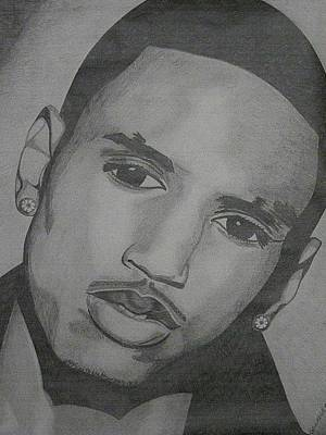 Hip Drawing - Trey Songz by Lakeesha Mitchell