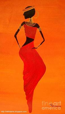 Painting - Tribal African Paintings by Rekha Artz