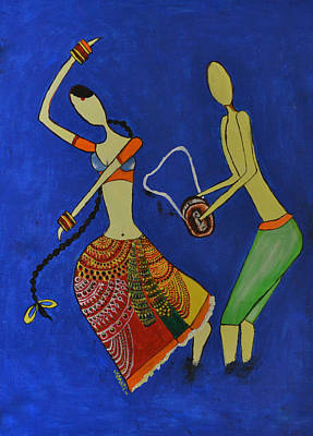 Painting - Tribal Dance From India by Shruti Prasad