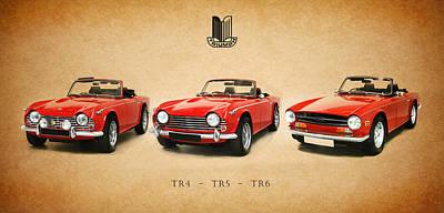 Triumph Tr Series Art Print by Mark Rogan