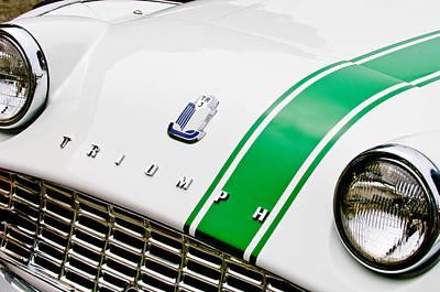 Photograph - Triumph Tr3 Grille - Hood Emblem by Jill Reger