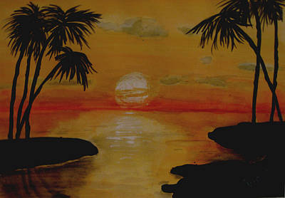 Painting - Tropical Sunset  by Kimber  Butler