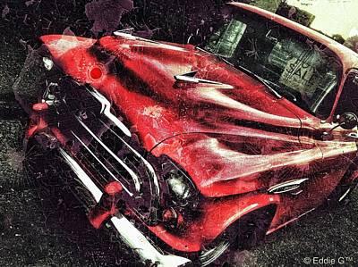 Manipulation Photograph - Trucker Red by Eddie G