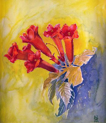 Painting - Trumpet Vine by Katherine Miller