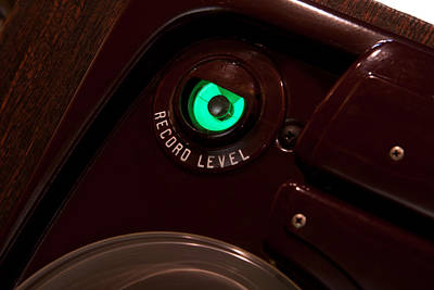 Photograph - Tube Green Magic Eye Record Level Meter by Gunter Nezhoda