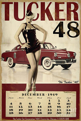 Vintage Pinup Photograph - Tucker 48 by Cinema Photography