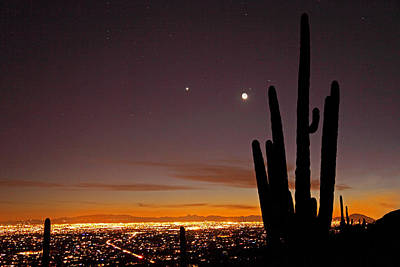 Photograph - Tucson At Dusk by Susan Rovira