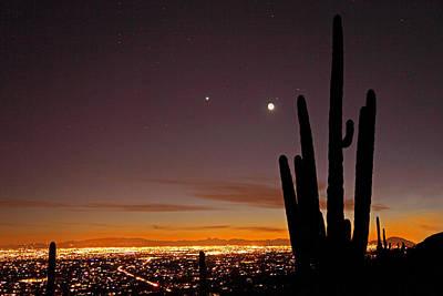 Photograph - Tucson At Dusk by Susan Rovira