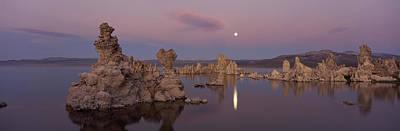 Tufa Formations In A Lake, Mono Lake Art Print