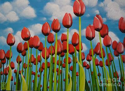 Painting - Tulip Festival by Holly Donohoe