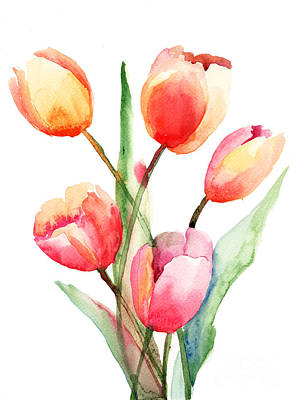 Tulips Flowers Art Print