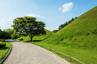 Ancient Civilization Photograph - Tumuli Park With Its Tombs by Michael Runkel