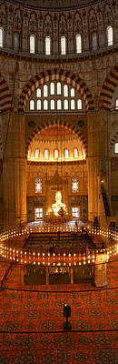 Byzantine Photograph - Turkey, Edirne, Selimiye Mosque by Panoramic Images