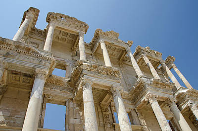 Library Of Celsus Photograph - Turkey, Ephesus Celsus Library, Built by Cindy Miller Hopkins