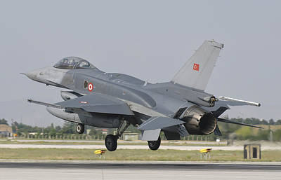 Science Collection - Turkish Air Force F-16 During Exercise by Giovanni Colla