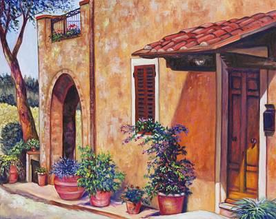 Tuscan Flower Pots Original by Eve  Wheeler