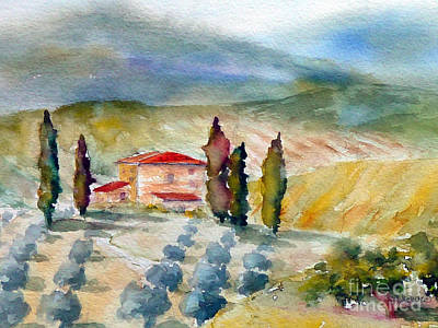 Painting - Tuscan Landscape by Carolyn Jarvis