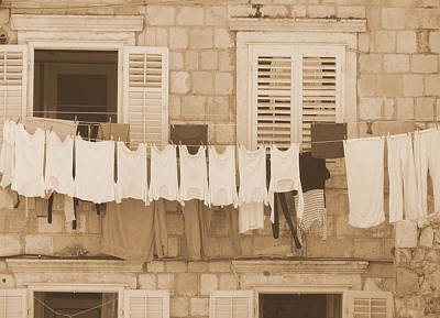 Tuscan Laundry Art Print by Ramona Johnston