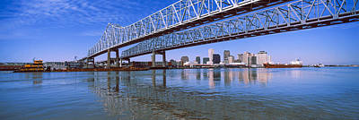 Louisiana Photograph - Twins Bridge Over A River, Crescent by Panoramic Images