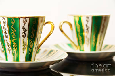 Two Coffee Cups Art Print by Aleksey Tugolukov