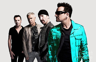 U2 Mixed Media - U2 by Marvin Blaine
