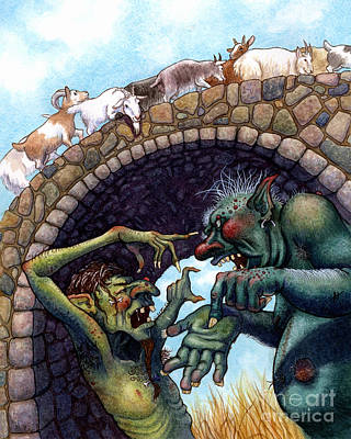 Fairy Wall Art - Painting - 2 Ugly Trolls by Isabella Kung