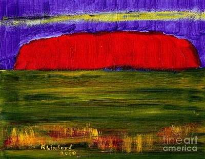 Painting - Uluru Ayres Rock Australia Sacred Rock by Richard W Linford