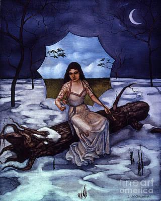 Sad Moon Painting - Umbrella Sky by Jane Whiting Chrzanoska