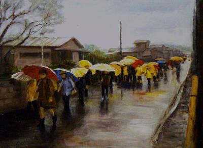 Umbrellas - Japan Art Print