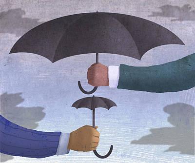 2 Umbrellas  Art Print