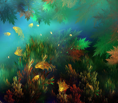 Photograph - Underwater World by Radoslav Nedelchev