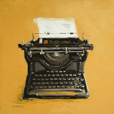 Typewriter Painting - Underwood Typewriter by Patricia Cotterill