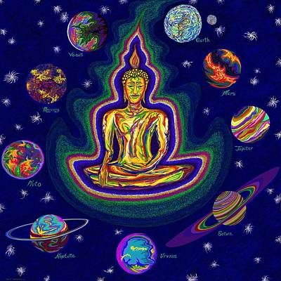 Painting - United Planets Of Buddha by Robert SORENSEN