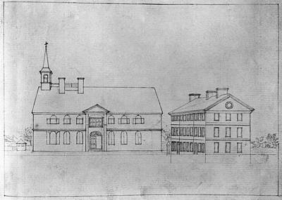 University Drawings Drawing - University Of Pennsylvania by Granger