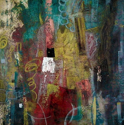 Colourfull Painting - Unravel by Katie Black