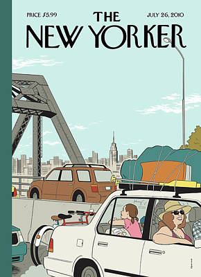 Empire State Building Painting - New Yorker July 26th, 2010 by Adrian Tomine