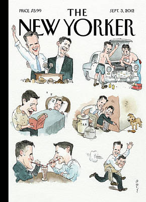 Mitt Painting - New Yorker September 3rd, 2012 by Barry Blitt