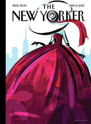 Dress Painting - New Yorker May 6th, 2013 by Birgit Schoessow