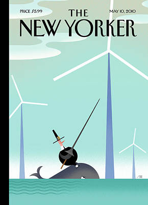 Farm Painting - New Yorker May 10th, 2010 by Bob Staake