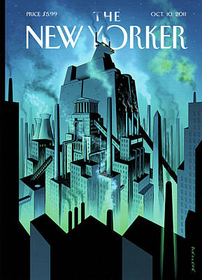 Wall Street Painting - New Yorker October 10th, 2011 by Eric Drooker