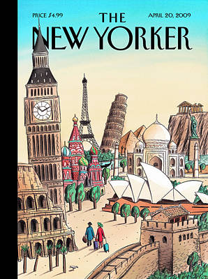 India Painting - New Yorker April 20th, 2009 by Jacques de Loustal