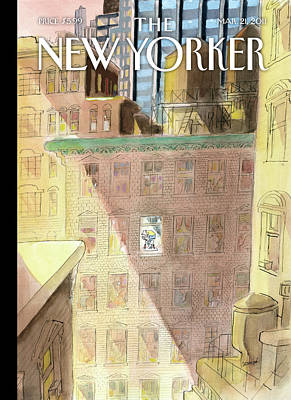Exercise Painting - New Yorker March 21st, 2011 by Jean-Jacques Sempe